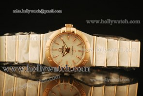 Omega Constellation 28MM Watch 123.20.24.60.05.004 Two Tone Case