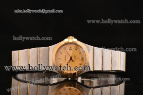 Omega Constellation Ladies Watch 123.20.27.20.58.001 Champagne Dial Two Tone Case