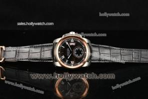 Cartier Calibre De Watch W7100141 Rose Gold Bezel Steel Case