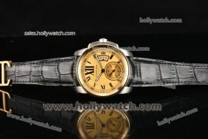 Cartier Calibre De Watch W7100142 Gold Bezel Steel Case