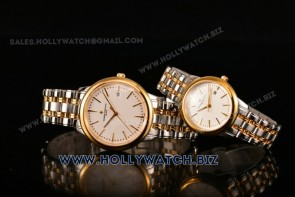 Vacheron Constantin Patrimony Couple Watches 81530/000R-9686 Steel Case/Yellow Gold Case